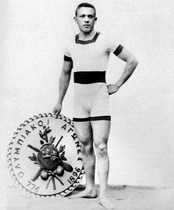 Hajós Alfréd Athénban 1896-ban