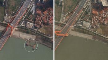Műholdképek a szellemvárossá változott Vuhanból