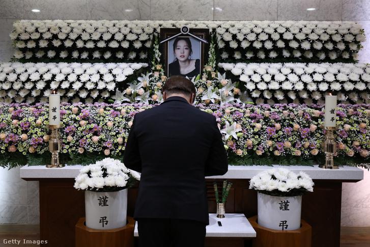 Goo Harának állított emlékhely Szöulban 2019 novemberében