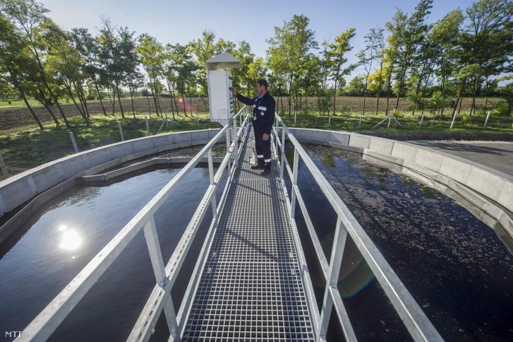Az Alföldvíz Regionális Vízközmű-szolgáltató Zrt. utóülepítő medencéje Gádoros szennyvíztisztító telepén