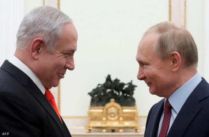 Benjámin Netanjahu és Vlagyimir Putyin mai találkozója Moszkvában