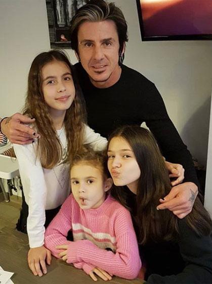 Kiss Endi imádja a lányait, Bogit, Kiarát és Larisszát, ezt a képet 2019 decemberében örökítették meg.