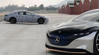 Megvillan a Mercedes elektromos szedánja