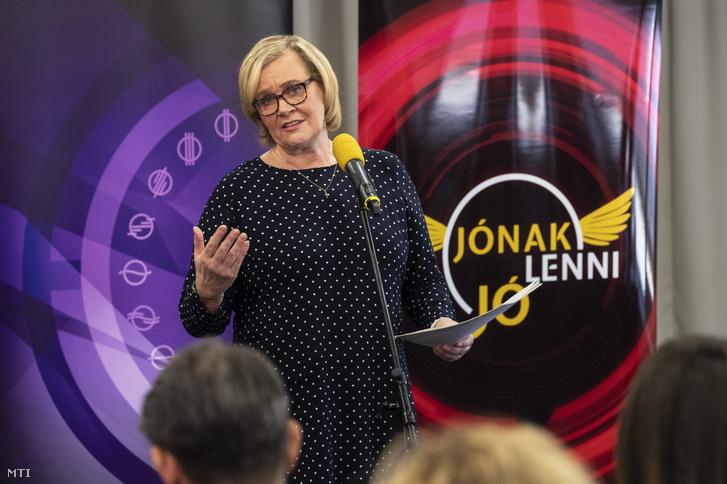 Siklósi Beatrix az M5 csatornaigazgatója MTVA székházában 2018. november 14-én