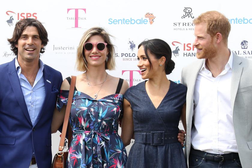 Ez a felvétel Nacho Figuerasról és feleségéről, illetve Harryről és Meghanról 2018-ban készült.