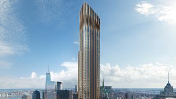 Nem építik tovább Manhattan legnagyobb bronzcsíkos felhőkarcolóját
