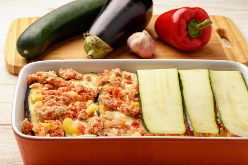 cukkini lasagne recept