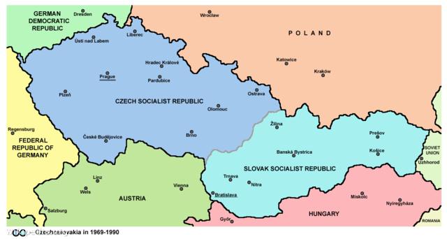 Csehszlovákia 1969 és 1990 között