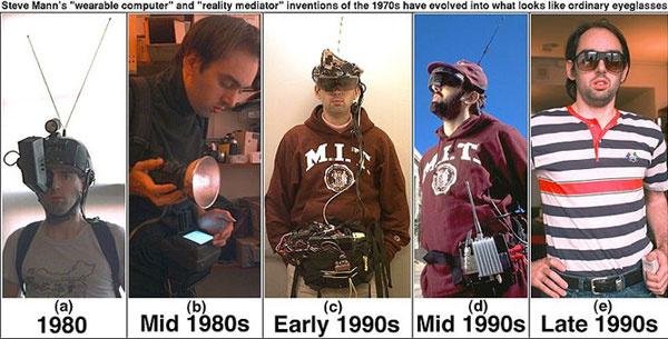 Mann a nyolcvanas évek óta visel hordozható számítógépet