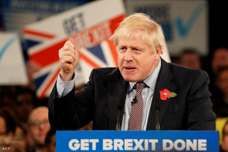 Boris Johnson választási kampányon 2019. november 6-án Birminghamben