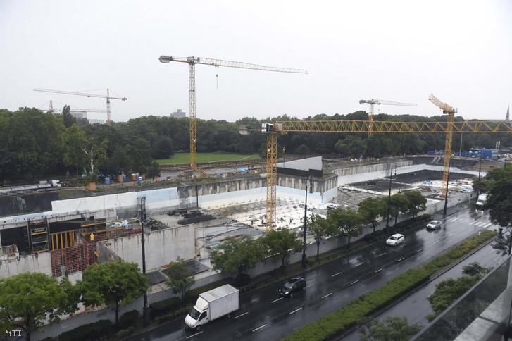 Az egyik Városligetben megvalósuló projekt, az épülő új Néprajzi Múzeum 2019. augusztus 14-én