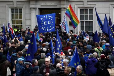 Voltak Brexit ellenes tüntetések is Londonban