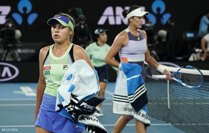 Sofia Kenin és Garbine Muguruza a döntőben