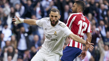 Benzema villanása döntötte el a madridi derbit