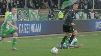 Nagy Dominik térdén taposott, megúszta a kiállítást a PAOK játékosa
