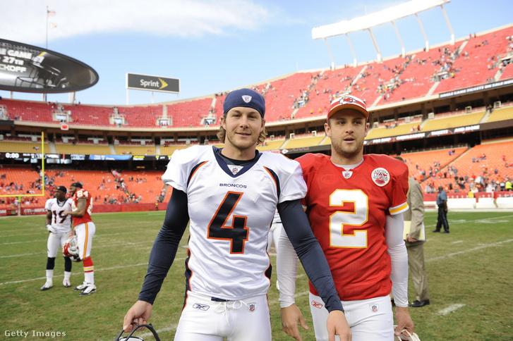 Balra Britton, jobbra Dustin Colquitt. Már mindketten Super Bowl-győztesek