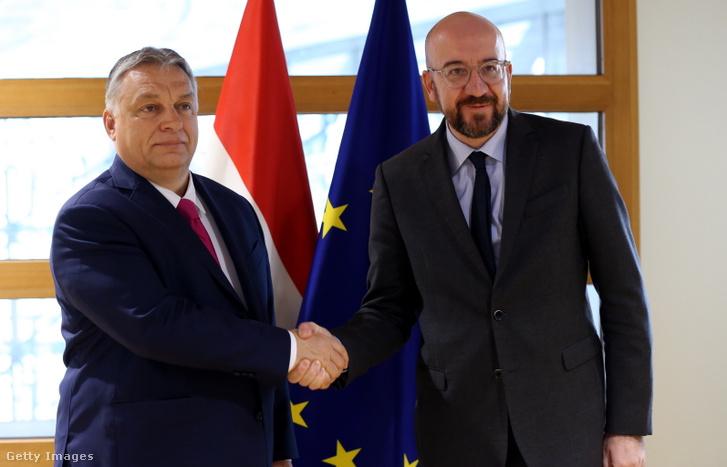 Orbán Viktor és Charles Michel 2020. február 3-án