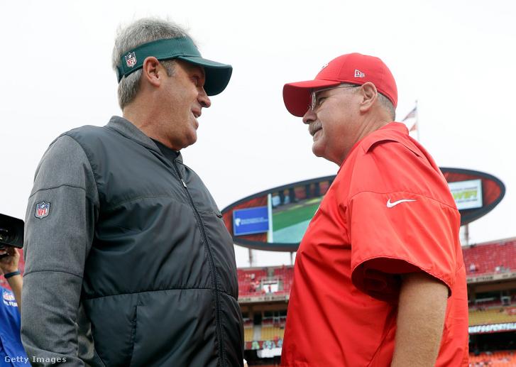 Az Eaglesszel Super Bowlt nyerő Doug Pederson és egykori mestere, Andy Reid