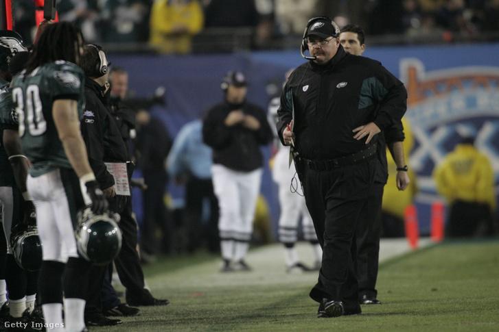 Andy Reid a Patriots elleni vesztes Super Bowlban
