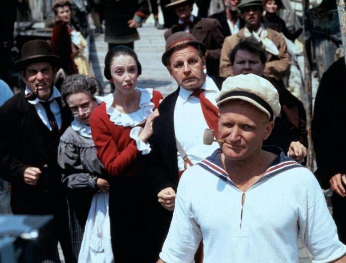 Robin Williams Popeye szerepében, 1980.