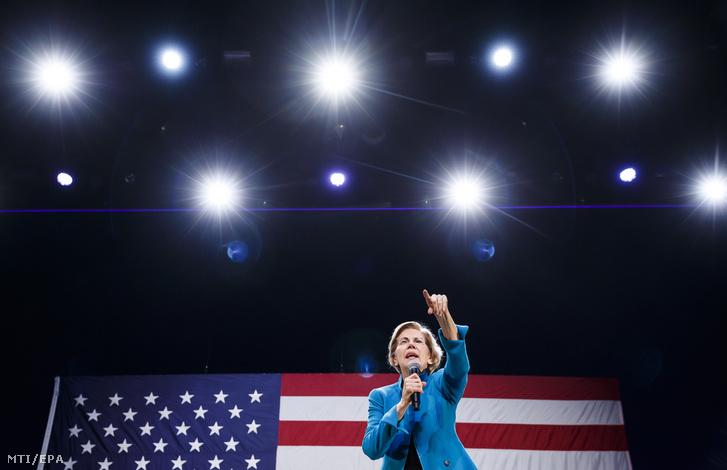 Elizabeth Warren massachusettsi szenátor demokrata párti elnökjelölt-aspiráns