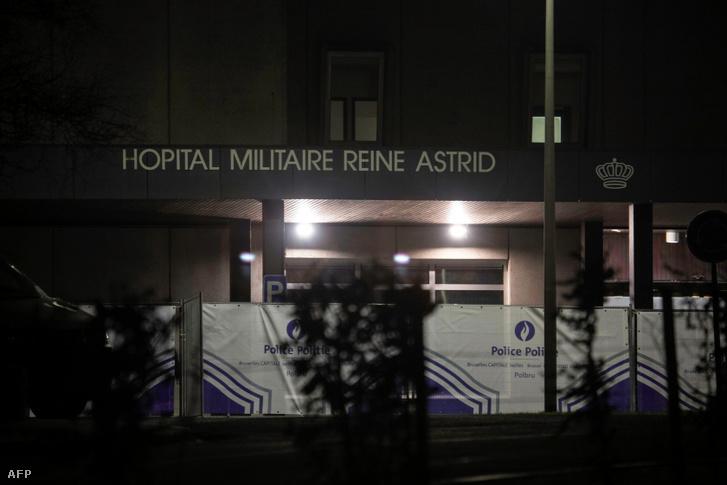 A belga Reine Astrid katonai kórház, ahova a belga állampolgárokat evakuálták Vuhanból 2020. február 2-án
