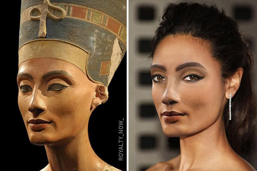 Nofertiti egyiptomi királyné körülbelül Kr. e. 1370 és 1330 között élt, szépségével, elegáns bájával pedig mindenkit lenyűgözött. Gyönyörűen alkotta újra arcát a grafikus.