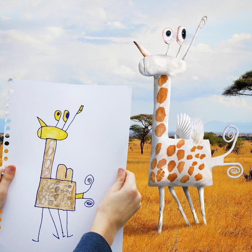 Milyen fura is lenne a világ, ha szárnyas, röpködő, kocka alakú zsiráfok vennének körül bennünket.