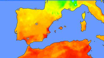 29,6 fokot mértek Spanyolországban