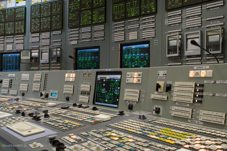 Orosz atomerőmű vezérlőterme