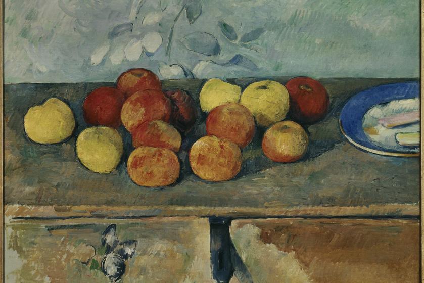 Az alma szorosan kapcsolódik a Bibliához, az emberiség bukásához és az eredendő bűnhöz. Ám ezenkívül még a tudást, a fiatalságot és a kísértést is jelképezi. Kínában a béke szimbóluma. A képen Paul Cézanne Almák és kekszek című 1880-as festménye látható.