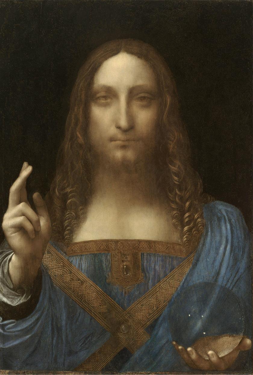 A Salvator Mundi című kép.