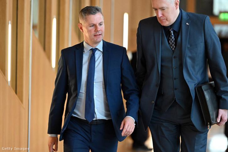 Derek Mackay a skót parlamentben 2020. január 21-én