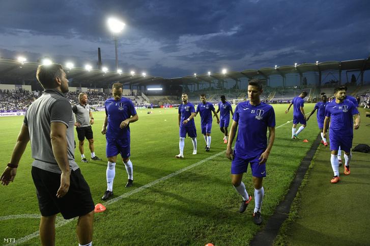 Újpesti játékosok a budapesti Szusza Ferenc Stadionban