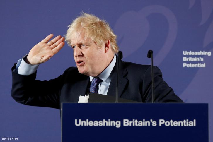 Boris Johnson sajtótájékoztatója 2020. február 3-án, Londonban