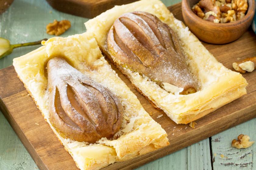 Rusztikus diós, körtés pite: bolti  leveles tésztából a leggyorsabb