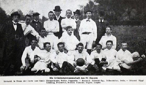 A Bayer München csapata 1900-ban