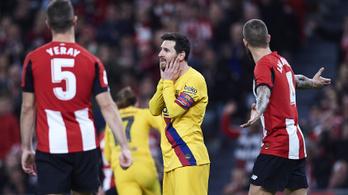 Drámai végjátékkal esett ki a Barcelona a spanyol kupából