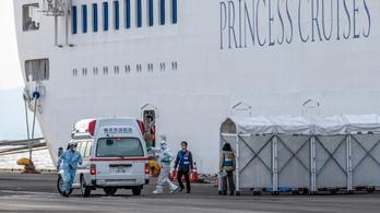 Újabb 41 fertőzöttet találtak a karantén alá helyezett japán óceánjáró utasai között