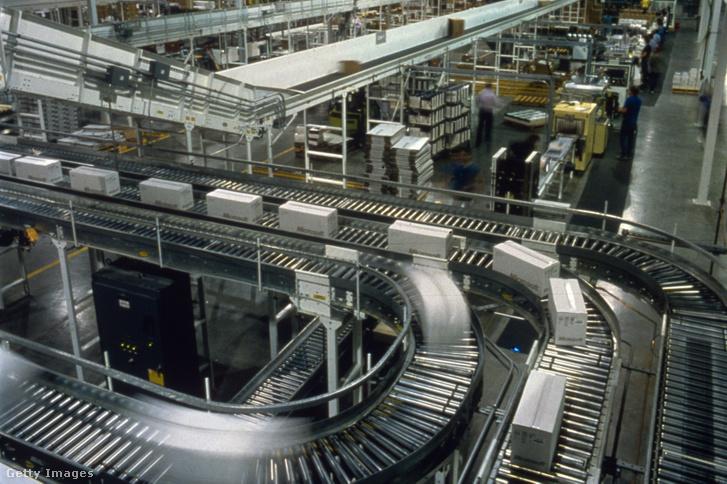 Gyártósor egy Microsoft gyárban