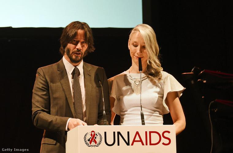 Itt az UNAIDS-gálán is részt vettek.