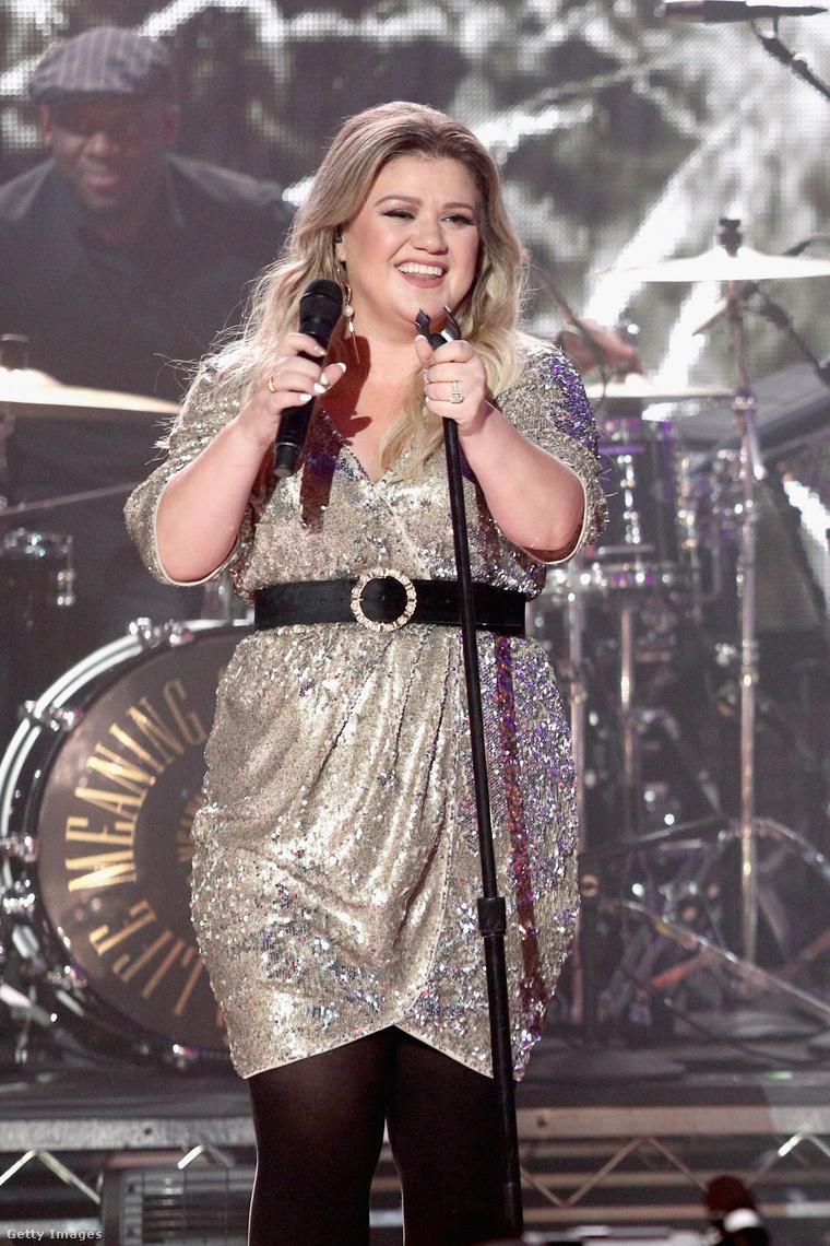 Kelly Clarkson 2017 Szilveszterén, New Yorkban