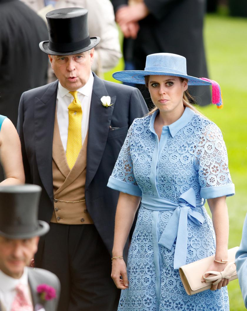 Beatrice hercegnő és apja, András herceg.