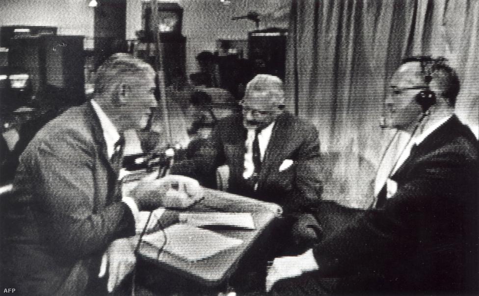 1962. július 11. Franciaországban jó a vétel: képkocka az Egyesült államokból sugárzott első, nem publikus tesztadásból.