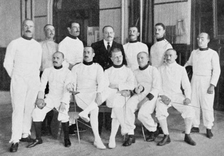 Az 1912-es kardcsapat