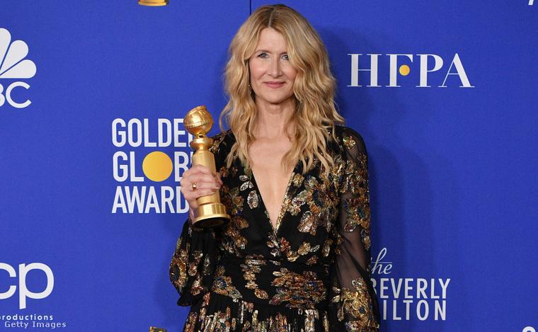 6. Laura Dern a Golden Globe-kiosztón