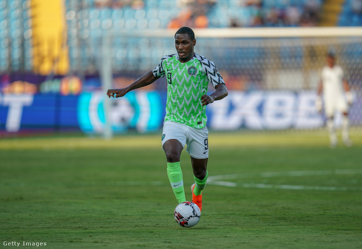 Odion Ighalo a Nigéria-Kamerun Afrika Kupa-meccsen 2019-ben, Egyiptomban.