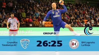 Utolsó másodperces góllal nyert a Tatabánya az EHF-kupában