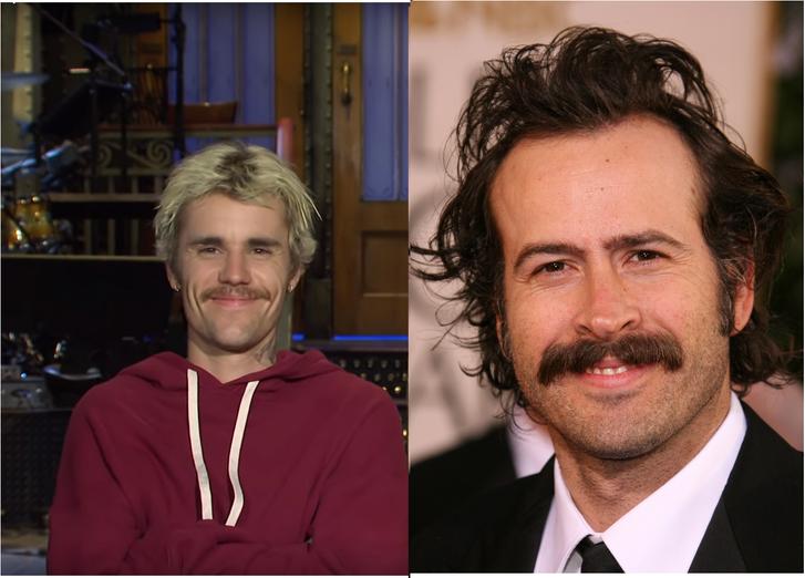 Bal: Justin Bieber (SNL / YouTube) Jobb: Jason Lee, a Nevem Earl főszereplője (Steve Granitz / Getty Images Hungary)