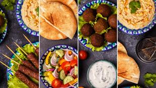 Szendvics új szinteken – gyors marokkói pita falafellel és fűszeres hummusszal